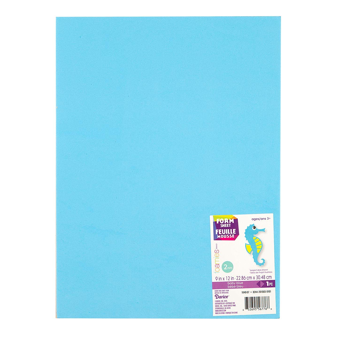 Darice Foamies Foam Sheet Baby Blue 2mm Thick 9 x 12 inches (10-Pack) 1040-57