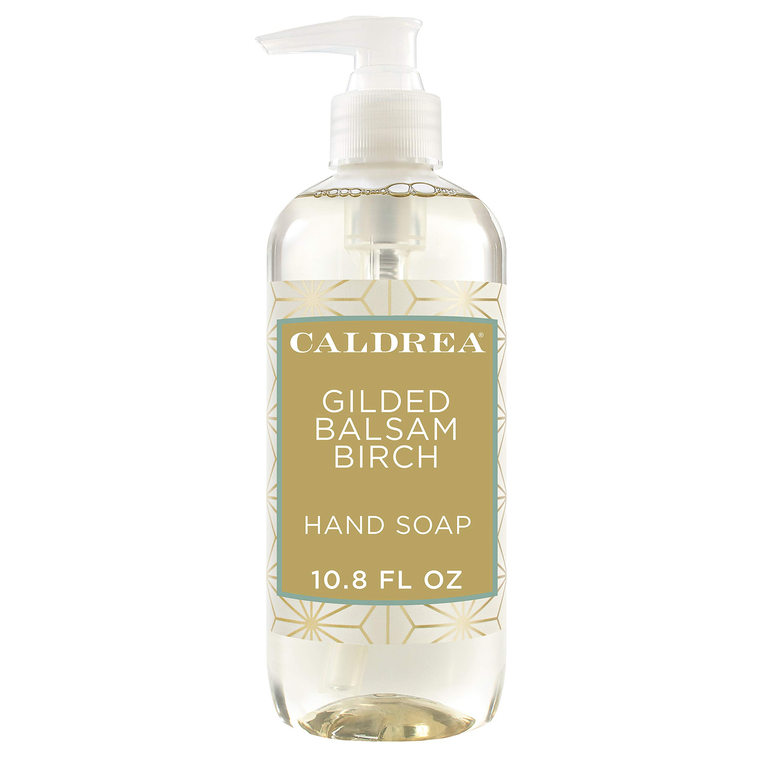 Caldrea Hand Wash Soap, Aloe Vera Gel, Olive Oil and Essential Oils to Cleanse and Condition, Gilded Balsam Birch Scent, 10.8 oz