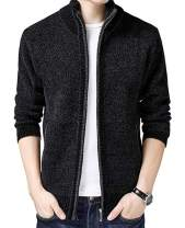 Vcansion Mens Casual Slim Fit Jacket Cardigans Long Sleeve Sweater