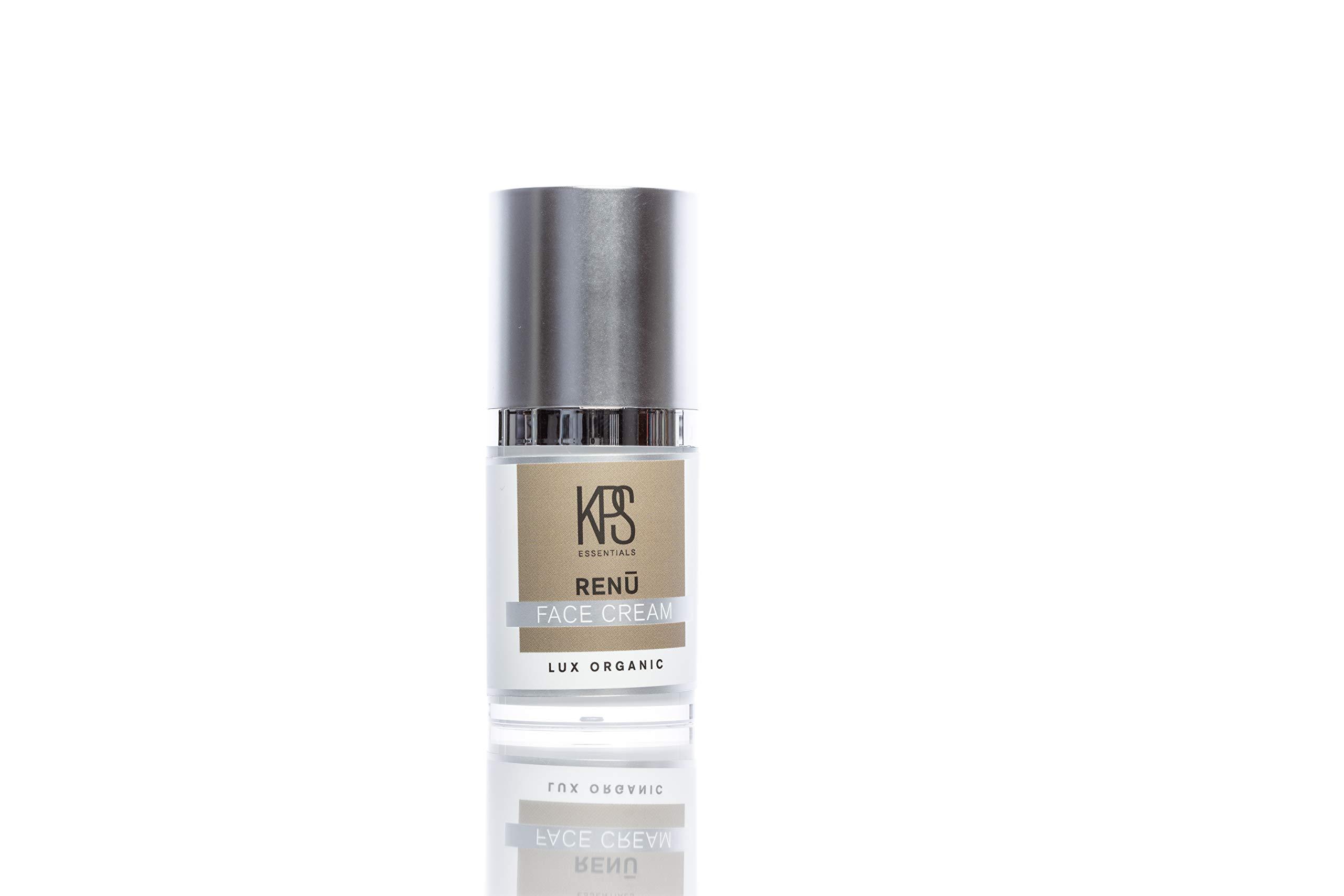 Organic Acne & Scar Treatment - .5oz | Hyaluronic Acid, Vitamin C | Replenish Collagen | Redefine Eye Cream | Dark Spot Corrector | Reduce Puffiness | Crepe Correcting | KPS Essentials Renu Skincare