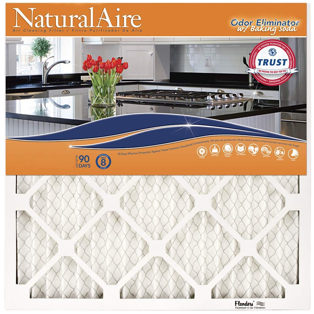NaturalAire Odor Eliminator Air Filter with Baking Soda, MERV 8, 18 x 24 x 1-Inch, 4-Pack