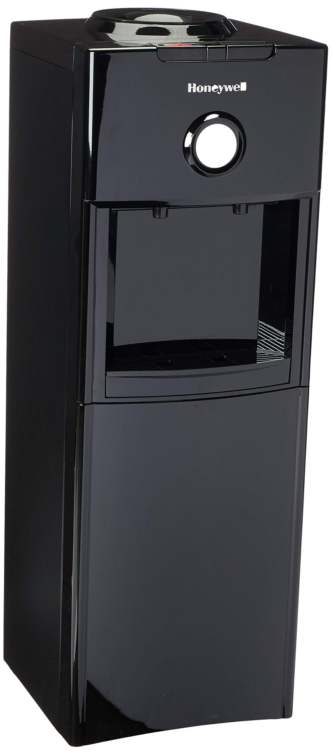 Honeywell Antibacterial Chemical-Free Technology, Hot and Cold Water Dispenser, Stainless Steel Tank, Adjustable Thermostat, Black