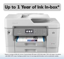 Brother Inkjet Printer, MFCJ6945DW, INKvestmentTank Color Inkjet All-in-One Printer with Wireless, Duplex Printing and Up to 1-Year of Ink in-Box, White