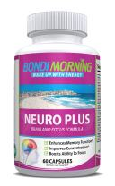 Bondi Morning Neuro Plus Brain Function Support. Promotes Focus, Clarity, Energy & Alertness. Nootropic Pills for Optimal Performance. Advanced Slow-Releasing Formula for Lasting Results. 60 Capsules