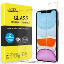 UTLK Screen Protector for iPhone 11, [2 Front+2 Back ] [6.1 inch], HD Clear Tempered Glass Screen Protector for iPhone 11, Anti Scratch Advanced,Case Friendly