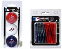"Team Golf MLB Logo Imprinted Golf Balls (3 Count) & 2-3/4"" Regulation Golf Tees (50 Count), Multi Colored"
