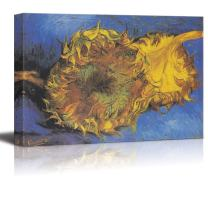 "wall26 Two Cut Sunflowers, 1887 by Vincent Van Gogh - Canvas Print Wall Art Famous Painting Reproduction - 32"" x 48"""