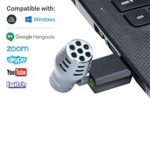 Movo Mini Omnidirectional USB Computer Microphone with USB Adapter Compatible with Laptop, PC and Mac, Perfect Podcasting, Gaming, Remote Work, Conference, Livestream, VOIP and Desktop Mic