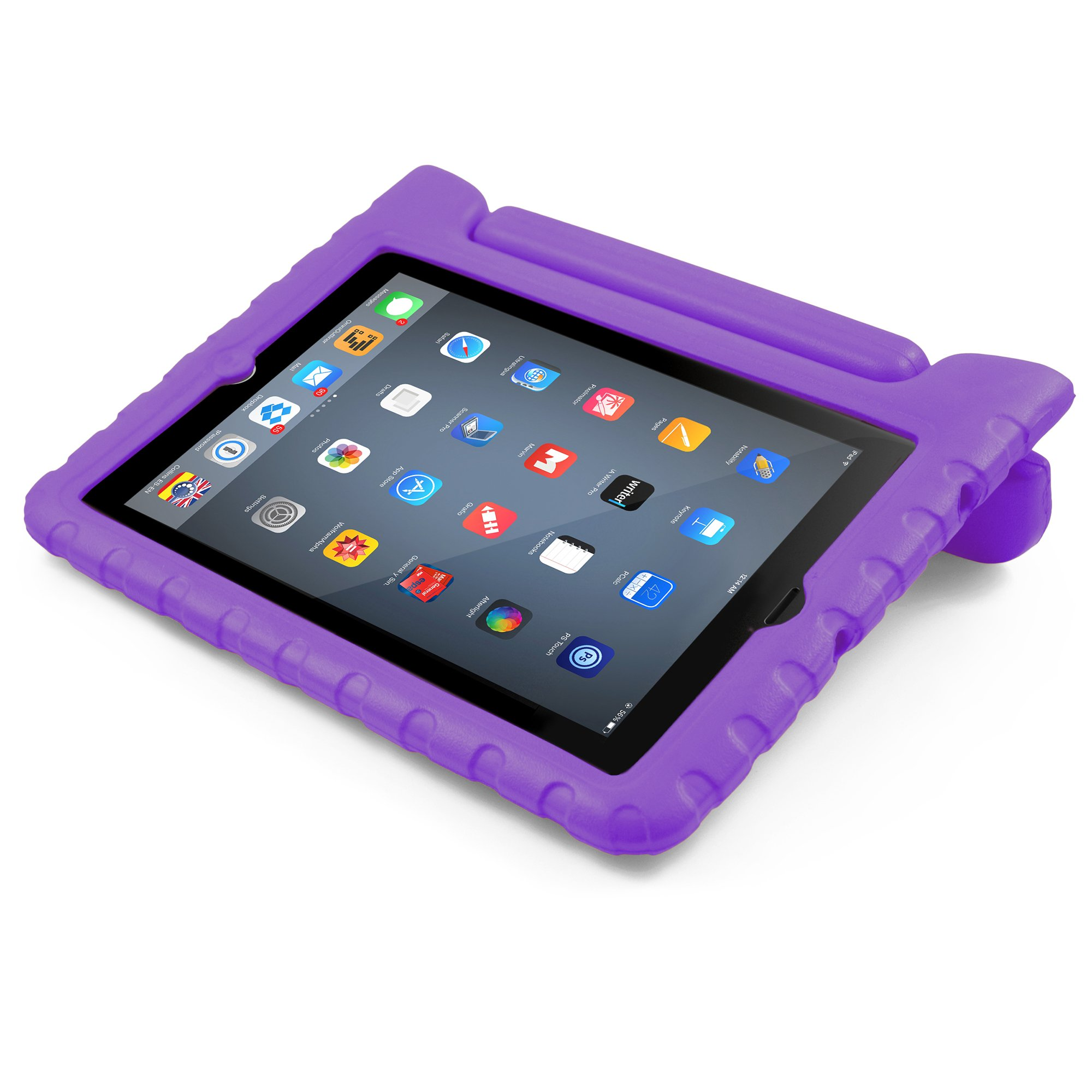 BUDDIBOX iPad Mini Case, [EVA Series] Shock Resistant [Kids Safe][Stand Feature] Carrying Case for Apple Mini iPad 1/2 / 3/4 and Retina, (Purple)
