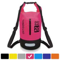 arteesol Floating Waterproof Dry Bag Backpack with Double Shoulder Strap Lightweight Dry Sack for Kayaking, Rafting, Boating, Swimming, Camping, Hiking, Beach, Fishing, Skiing