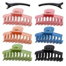 6PCS Big Hair Claw Clips Large Hair Clips Nonslip Large Claw Hair Clips Jaw for Women Girls Thick Hair with 2 duckbill clips