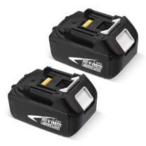 5000mAh BL1830B-2 Battery Compatible with Makita 18V Battery for BL1830 BL1850 BL1840 BL1850B-2 BL1845 BL1815 BL1820 BL1860B LXT-400 18-Volt Cordless Power Tools Batteries-2 Packs