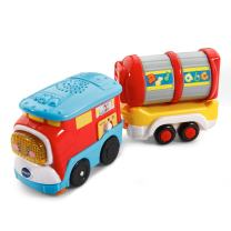 VTech Go! Go! Smart Wheels Freight Train with Tanker Car, Great Gift For Kids, Toddlers, Toy for Boys and Girls, Ages 1, 2, 3, 4, 5