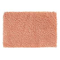 "mDesign Soft Microfiber Polyester Non-Slip Rectangular Spa Mat, Plush Water Absorbent Accent Rug for Bathroom Vanity, Bathtub/Shower, Machine Washable - 30"" x 20"" - Coral"