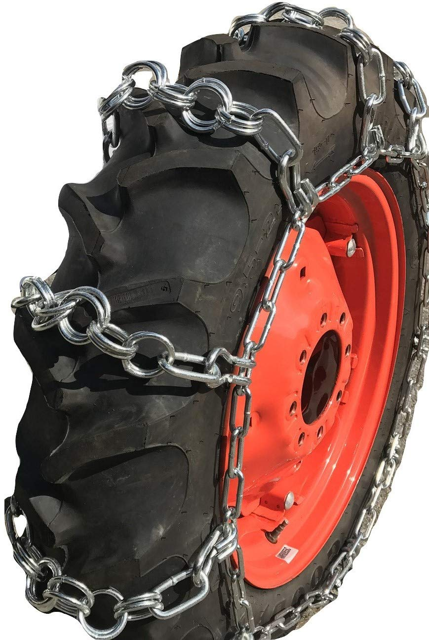 TireChain.com 14.9-24, 14.9 24 Double Ring Nuway Tractor Tire Chains