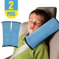 2PCS Seat Belt Pillow for Kids Car Belt Covers Shoulder Pads Safety Belt Protector Cushion Plush Belt Strap Cover Head Neck Support for Children Baby(Shoulderpad Grey)