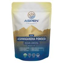 Aspen Naturals Organic Ashwagandha Powder - Ultimate Stress Relief Support - 100% Organic Ashwagandha Root Powder, from India, Premium Immune, Adrenal, and Sleep Support