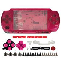 OSTENT High Quality Full Housing Shell Faceplate Case Part Replacement Compatible for Sony PSP 3000 Color Red