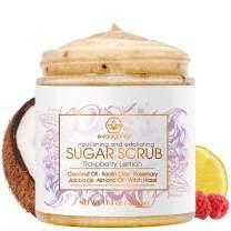 Natural & Organic Sugar Scrub Body Exfoliator - Spa Quality Organic Body Scrub with Food Grade Ingredients to Nourish, Moisturize & Rejuvenate Dull Dry Skin - No Harsh Chemicals, Parabens or Sulfates