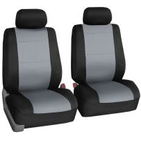 FH Group FB083GRAY102 Gray-Half Neoprene Bucket Seat Cover Airbag Compatible