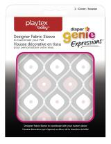 Playtex Diaper Genie Expressions Diaper Pail Fabric Sleeve, Pink/Grey
