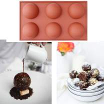 2 Pack Silicone Mold For Chocolate, Cake, Jelly, Pudding, Handmade Soap, Round Shape, Dome Mousse Half Sphere Silicone Baking Molds