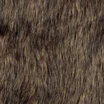 Shannon Fabrics Faux Fur Wolf Fabric by The Yard, Brown/Black