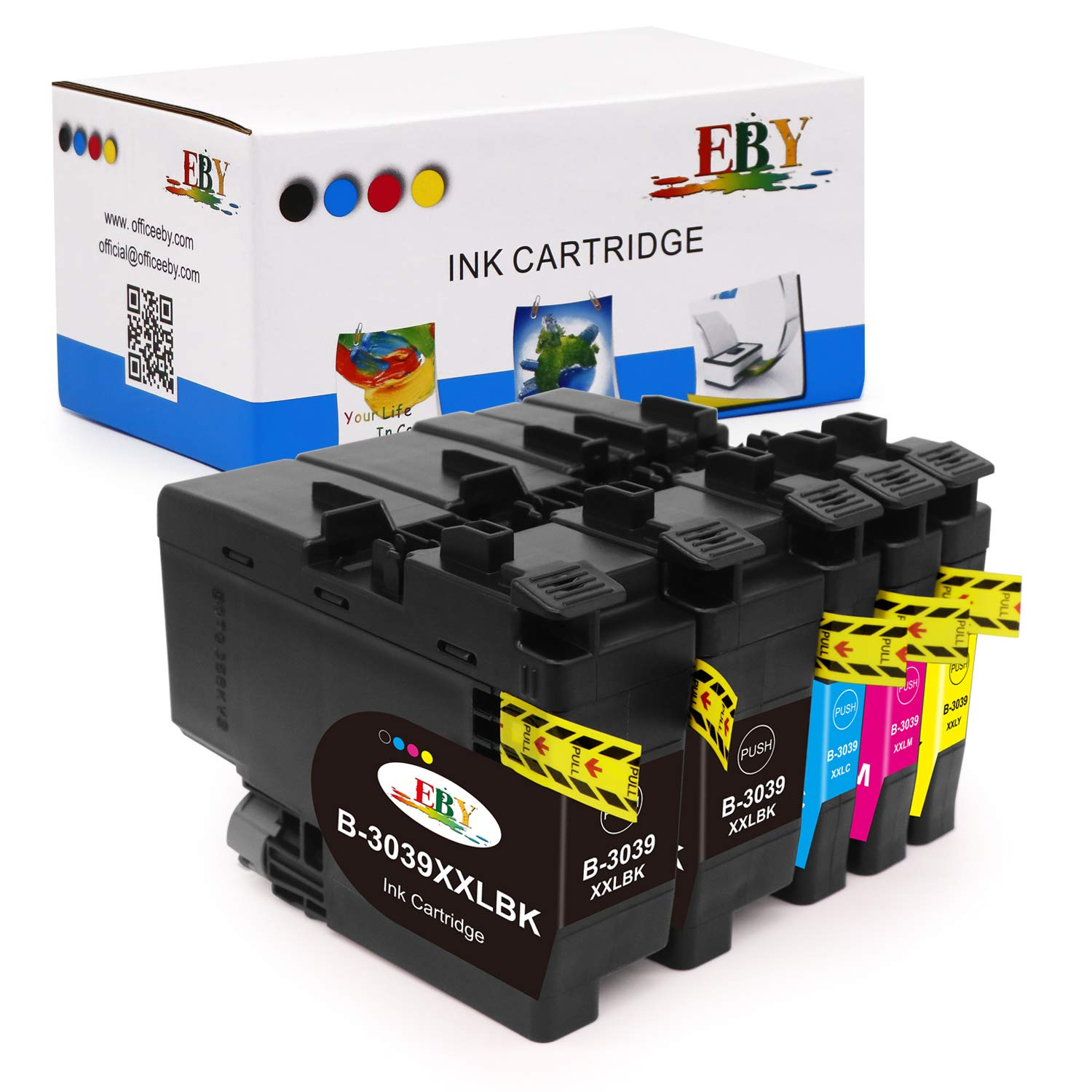 EBY Compatible Ink Cartridge Replacement for Brother LC3037 LC3039 for Brother MFC-J5845DW MFC-J5845DW XL MFC-J5945DW MFC-J6545DW MFC-J6545DW XL MFC-J6945DW (2 Black,1 Cyan,1 Magenta,1 Yellow)