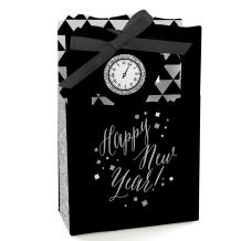 New Year's Eve - Silver - New Years Eve Party Favor Boxes - Set of 12