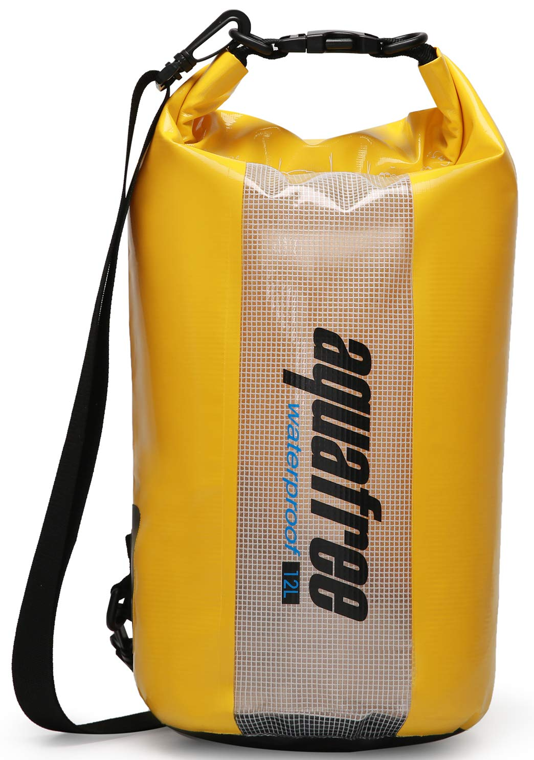 aquafree Waterproof Dry Bag 12L 24L See Through Window Detachable Adjustable Shoulder Strap Roll Top Sack Keeps Gear Dry for All Water Sports Kayaking Boating Rafting Surfing Fishing Camping Beach