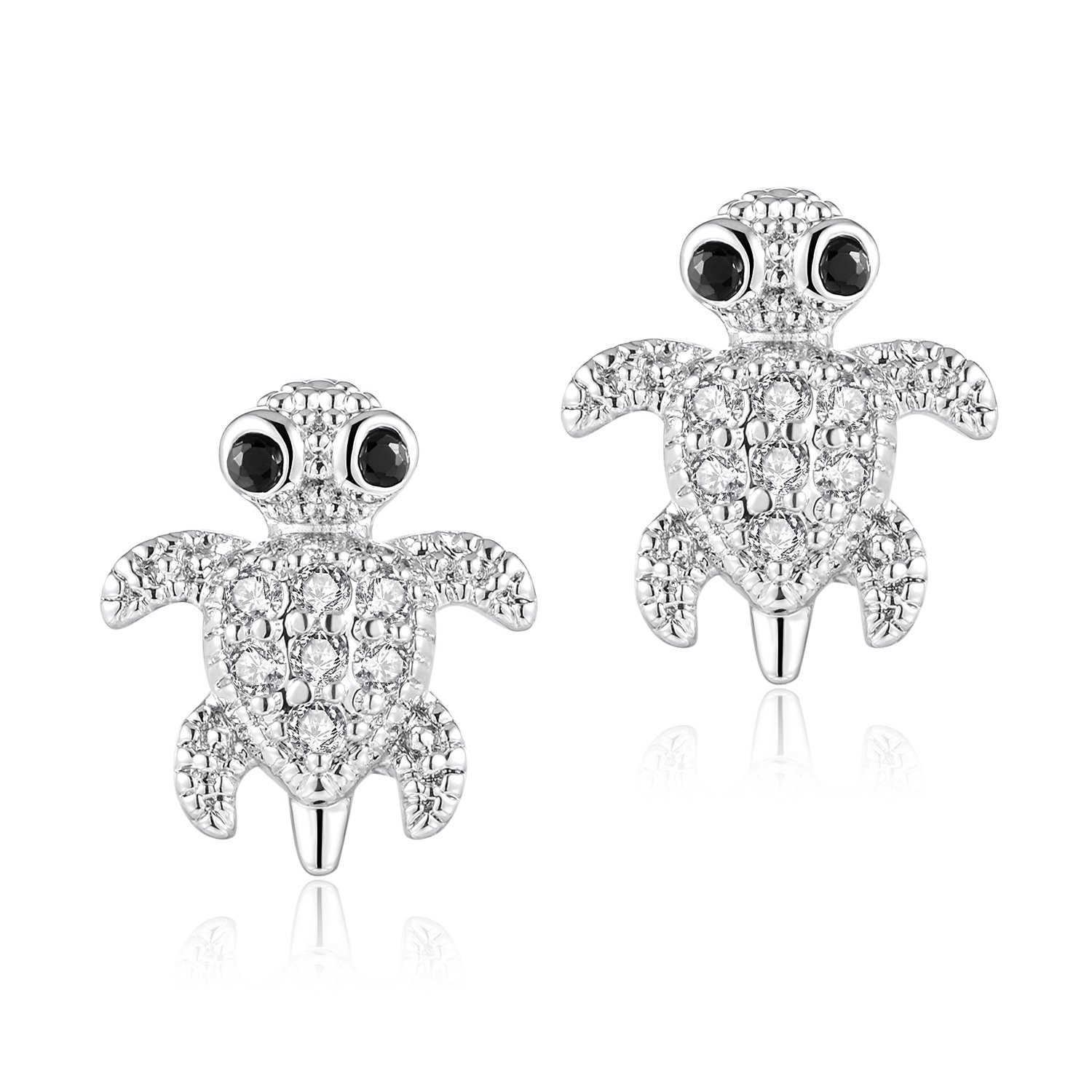 Candyfancy 2 Pieces 16g / 18g Surgical Steel Sea Turtle Ear Cartilage Helix Studs Earrings Auricle Piercings