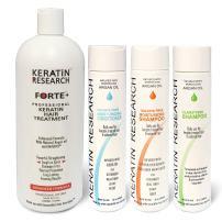 Keratin Forte Keratin Brazilian Keratin Hair Blowout Treatment with Moroccan Argan Oil Extra Strength Enhanced Formula 4 Bottles 1000ml Kit By Keratin Research Queratina Brasilera Tratamiento Forte