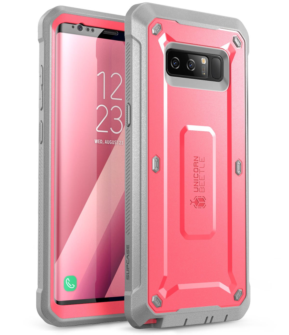 SUPCASE Unicorn Beetle Shield Series Case Designed for Galaxy Note 8, with Built-in Screen Protector Full-Body Rugged Holster Case for Galaxy Note 8 (2017 Release) (Pink)