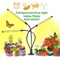 LED Indoor Grow Lights for Plants Full Spectrum Clamps Growing Lamps 120W with 9 Dimmable& Timer Auto ON/Off 3 Strips Adjustable Long Arms&3 Switch Mode for Seedlings Garden Hydroponics Houseplants