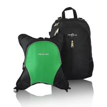 Rio Diaper Backpack with Baby Bottle Cooler and Changing Mat, Shoulder Baby Bag, Food Cooler, Clip to Stroller (Black/Green) - Obersee