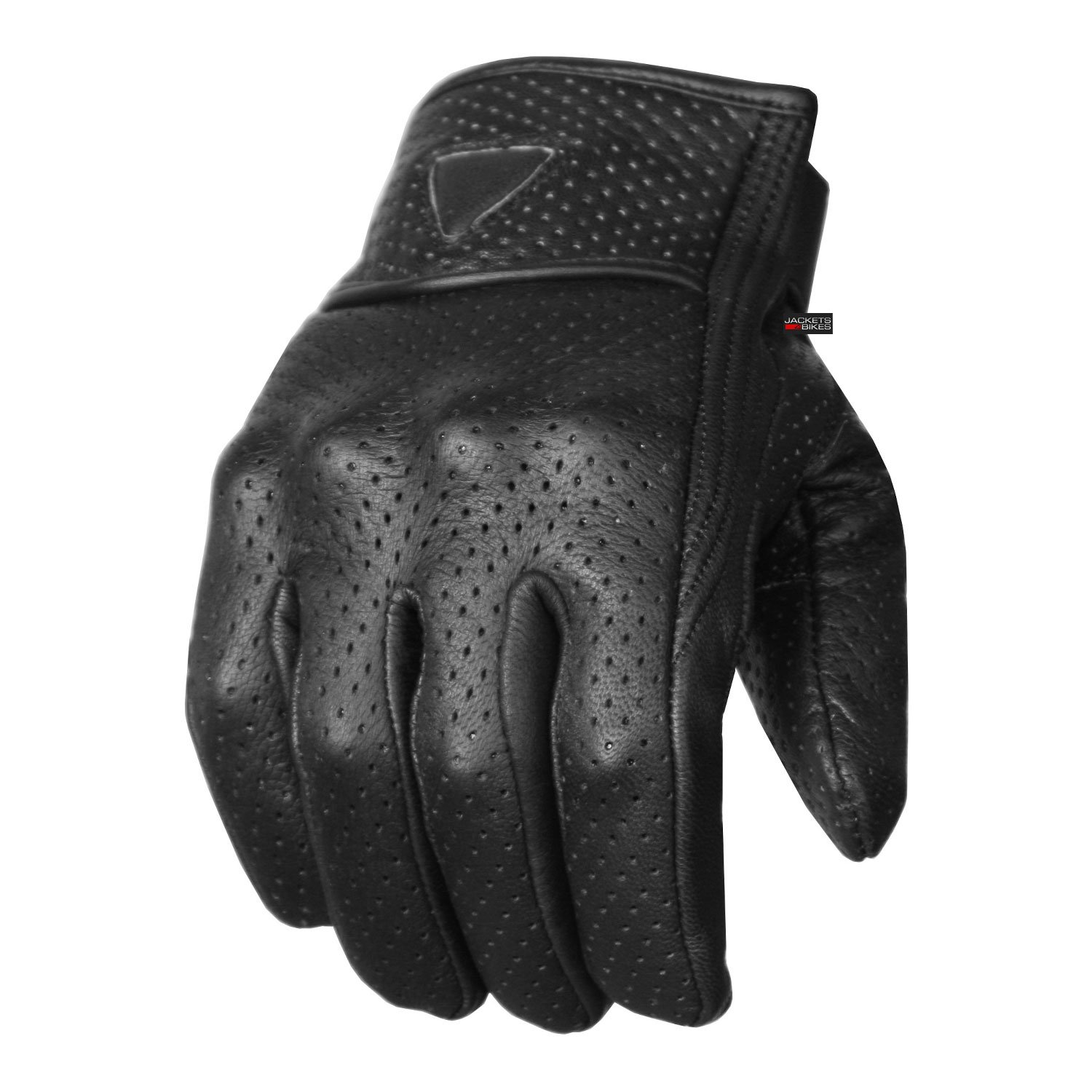 Premium Men's Motorcycle Leather Perforated Cruiser Protective Gel Gloves S