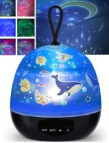 BGJOY Kids Night Lights Moon Star Projector 360 Degree Rotation 4 LEDs 8 Colors Changing with USB Cable Bedside Night Light Unicorn Gifts for Girls Baby Boys Toddlers Birthday Nursery Women Children
