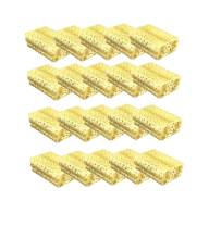 """888 Display USA 25 Gold Foil Cotton Charm Jewelry Boxes Gift Display 2 1/8"""" x 1 5/8"""" x 3/4"""" (Gold)"""