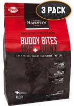 Majesty's Hip+Joint Buddy Bites - 56 Count, Medium/Large Dog - Bones, Joints & Cartilage Support Supplement - Peanut Butter/Coconut Oil Flavored - Glucosamine, Chondroitin - Mobility, Pain & Tension