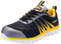 LARNMERN Steel Toe Shoes Men Safety Work Athletic Industrial & Construction Shoe