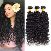 Brazilian Water Wave Hair 3 pcs Human Hair Bundles 18 20 22 inch Water Curly Wave Bundles 1B# Unprocessed Remy Hair Extension