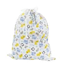 Imse Vimse Reusable Washable Wet Bags for Cloth Diapers (Snowland, Large 14x18)