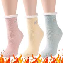 Warm Thermal Socks, Three street Womens Warm Winter Extra Thick Lining Heat Insulated Socks For Cold Weather