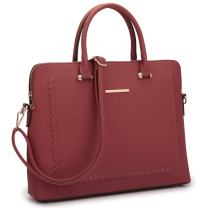 Women's Fashion Handbag Slim Shoulder Bag Tote Satchel Purse Top Handle Briefcase Work Bag for 14 in Laptop