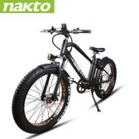 NAKTO Electric Bike Mountain Ebike with 300W/350W/500W 36V/48V Lithium Battery (500W48V12A)