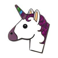 Real Sic Unicorn Enamel Pin - Glittery Emoji Unicorn Lapel Pin Super Cute Kawaii Accessory for Backpacks, Jackets, Hats & Tops