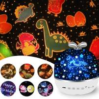 Rechargeable Star Night Light Projector, 6 Projector Films Night Projector, 360 Degree Rotation Projector Light, 8 Colorful Modes with USB Cable for Baby Nursery, Kid Room Decor