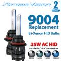 Xtremevision AC HID Xenon Replacement Bulbs - Bi-Xenon 9004 6000K - Light Blue (1 Pair) - 2 Year Warranty