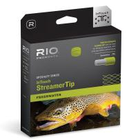 RIO Fly Fishing Fly Line InTouch Streamer tip 10' Type 6 Wf5F/S6 Fishing Line, Black-White-Pale-Green