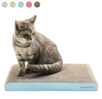 AMZNOVA Cat Scratcher, Scratching Pad, Durable Recyclable Cardboard with Catnip, Colors Series, 7 Colors & 2 Sizes